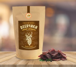 Логотип и упаковка мясного деликатеса Deerчики