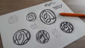 Логотип Party21 предварительные варианты